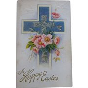 4 Old Easter Postcards - Religious Theme