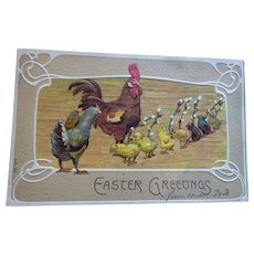 Postcards 3 Mother Hens and Chicks