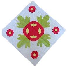 1800's Applique Quilt Block 26-inches
