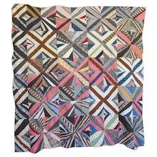 1860's Quilt TOP - String Pieced Unused