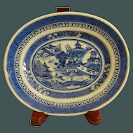 Antique Canton Nanking Blue and White