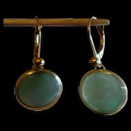 Jade / Jadeite Earrings  Dangle w 14k gold
