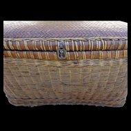 Antique Chinese Basket Storage Trunk
