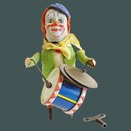 Schuco Monkey Clown Drummer Cymbals Windup Toy