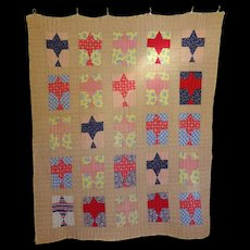 1920's Spirit of St. Louis Quilt- Charles Lindbergh Commemoration - Red Tag Sale Item
