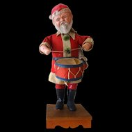 Old Wind-up Santa Claus--Japan  RARE