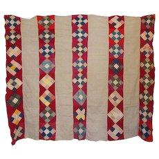 quilt TOP c.1900 9-patch