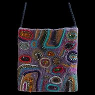 Beaded Evening Bag - Gorgeous Art Deco free-form design