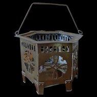 Old Chinese Brass Lantern hexagon / teapot warmer