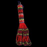 Old Beaded Whimsy Tassel   pretty colors  tiny beads - Native American