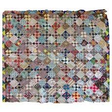 Antique Quilt TOP--1000's of mini size scraps - Red Tag Sale Item