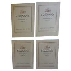 John Howell Books - 4 Catalogues II,  III,  IV, V,   Catalogue 50