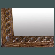 2 Mirrors -1-Rectangle and 1- Oval  GILT    c. 1900