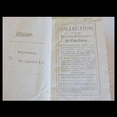 """1693 Edition """"A Collection of Curious Travels & Voyages in Two Tomes"""" Dr. Leonhart Rauwolff first edition"""