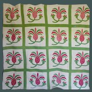 1850's Pineapple Applique Quilt