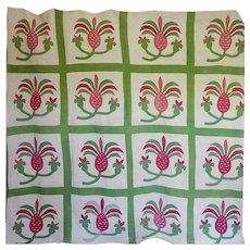 1850's Pineapple Applique Quilt