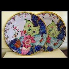 "Tobacco Leaf Plates Tin Metropolitan Museum Gorgeous Colors 10"""
