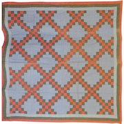 Old Pennsylvania Irish Chain Quilt - Lancaster Blue ground