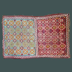 Old Nomad Tribal Rug pretty colors