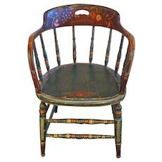 Antique PA Dutch Painted Chair