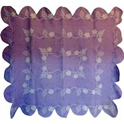 Vintage Quilt - a very Grapey Applique Work-in-Purples Scalloped