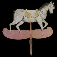 Wooden Horse Sign Placard Folk Art puppet
