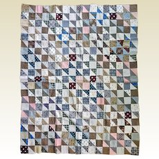 Old Crib Quilt Top 1800's unused