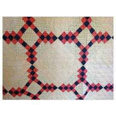 """Antique quilt c. 1900 10spi  74"""" x 90"""""""