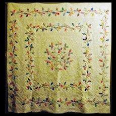 Autumn Leaves Applique Quilt Vintage 30's FAB quilting