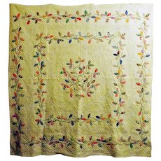 Autumn Leaves Applique Quilt Vintage 30's FAB quilting