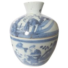 Pottery & Glass Popular Brand Vintage Delft Hand Painted Blue & White Ginger Jar Salt & Pepper Shakers Holland