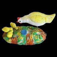 Hen and Chicks Figure Folk Art