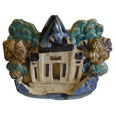 Chinese Pottery Figural Bowl Folk Art