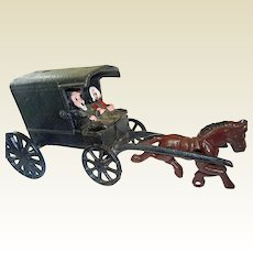 Cast Iron Amish Carriage