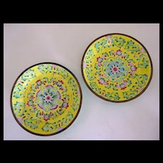 Chinese Export Canton Dishes 2  c. 1900