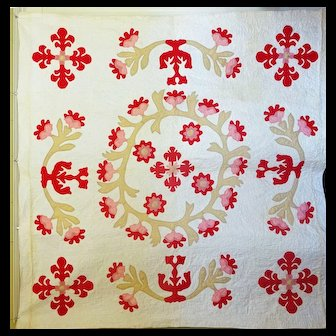 Antique Applique Quilt c. 1850