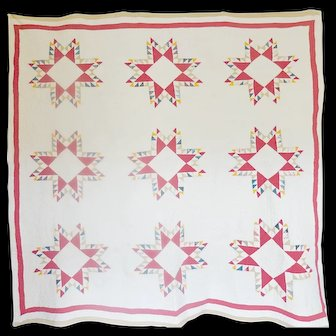 Vintage Feathered Star Quilt