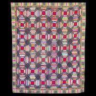 Victorian Pineapple Log Cabin Quilt  Verrry nice!