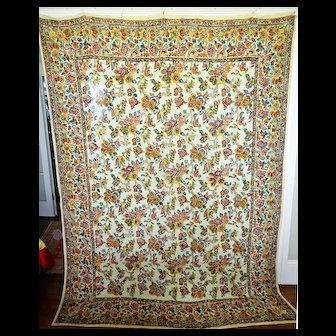 Vintage Indian Block Printed Hanging / Bed cover