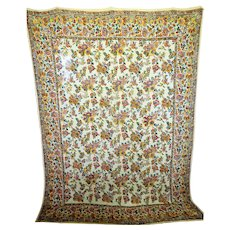 Vintage Indian Block Printed Hanging / Bed cover