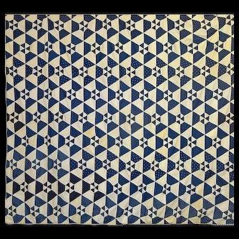 Indigo and White Comforter / Tied Quilt