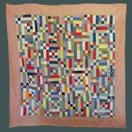 Vintage Quilt in straight-forward primary colors, Caulder-esque