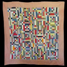 Vintage Quilt in straight-forward primary colors, same as used by Alexander Caulder