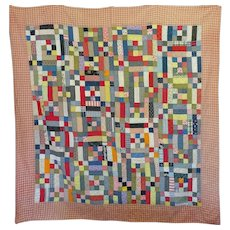 Vintage Quilt in straight-forward primary colors, Caulder-esque