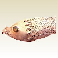 Articulated FISH Sterling silver Danny's Mexico