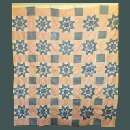 Vintage 1930's Quilt TOP -unused / with sizing / Pretty