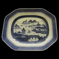 Chinese Blue and White CANTON 19th c    A