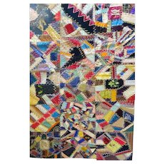Antique Crazy Quilt - fine   c. 1890