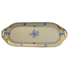 "Old Herend Plate - ""Blue Garden"" ~ elongated 14"" x 6"" x 3/4"""