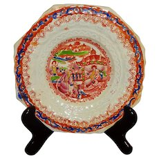 Ironstone Hexagonal Plate -Chinoiserie
